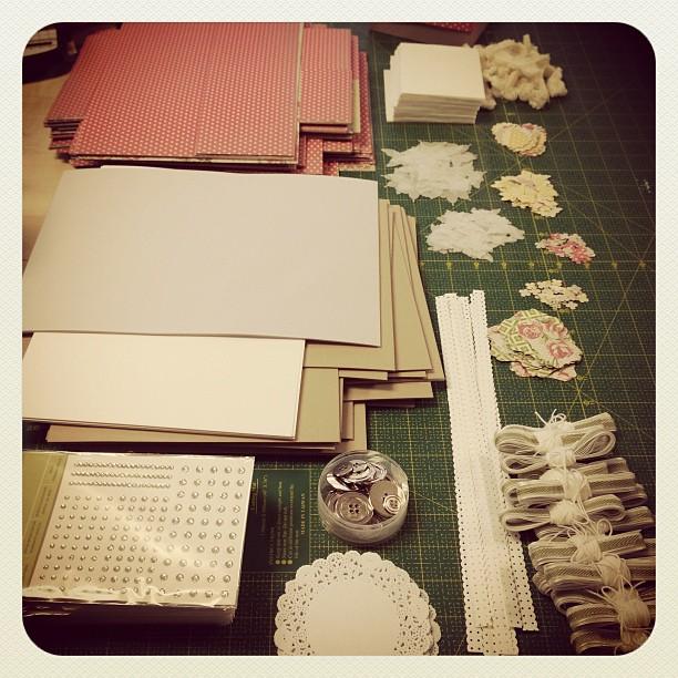 MiniAlbum Kits packen :-) #kitclub