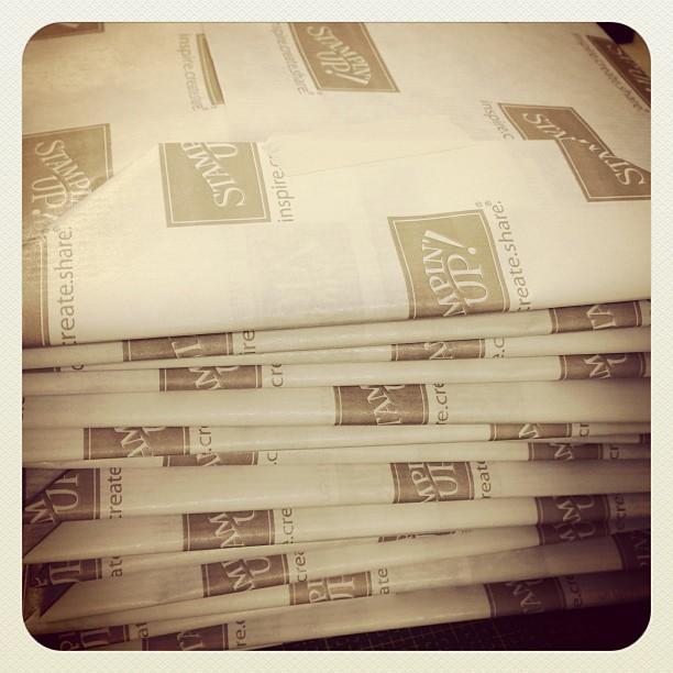 Die ersten Materialpakete sind gepackt :-) # CampInk