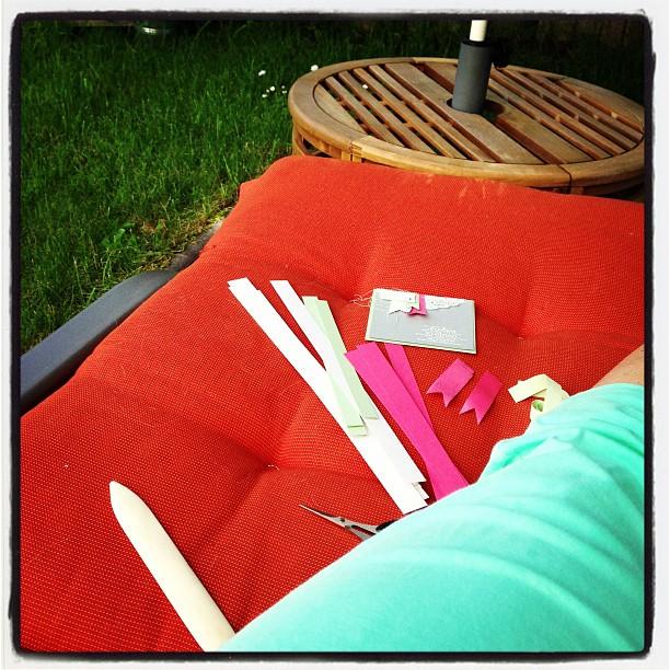 Werkeln im Garten :-) mit den neuen InColors