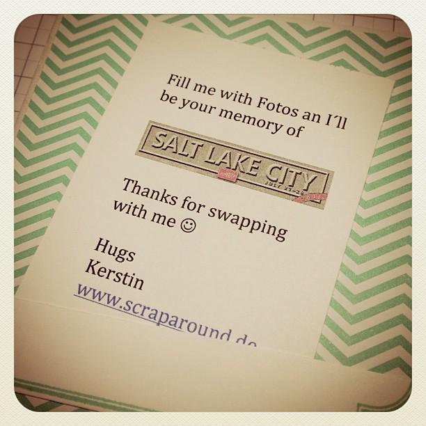 Swap für die Prämienreise ist fertig :-) #swaps #utah #prämienreise #stampinup