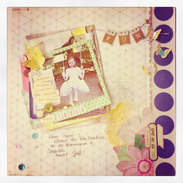 Layout-Workshop in der SBW #scrapbookwerkstatt #layouts #maggieholmes
