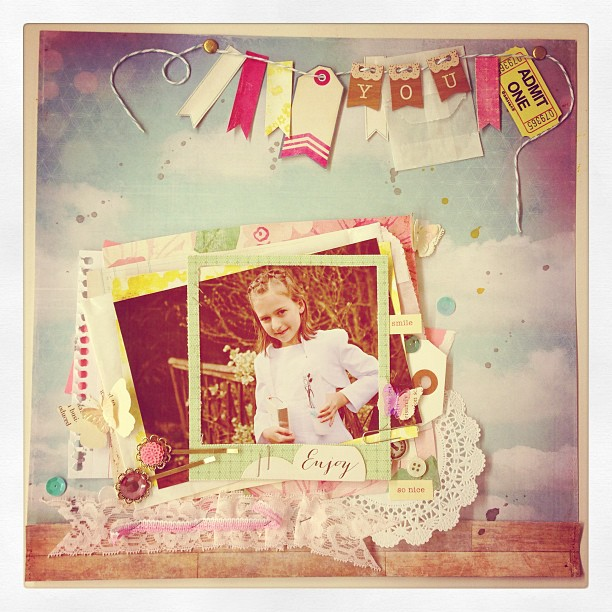Layout-Workshop #scrapbookwerkstatt #layouts #maggieholmes