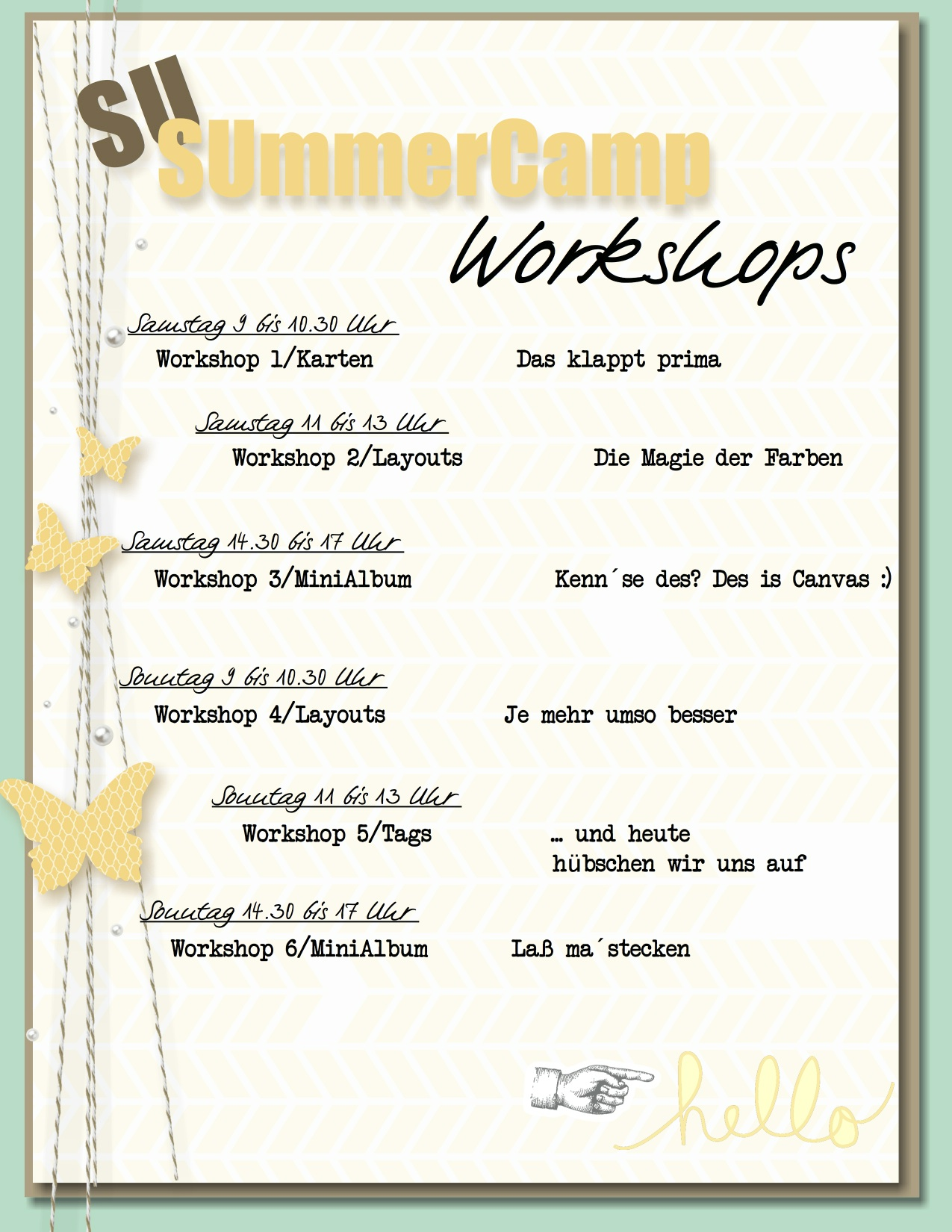 SUmmerCamp WorkshopPlan