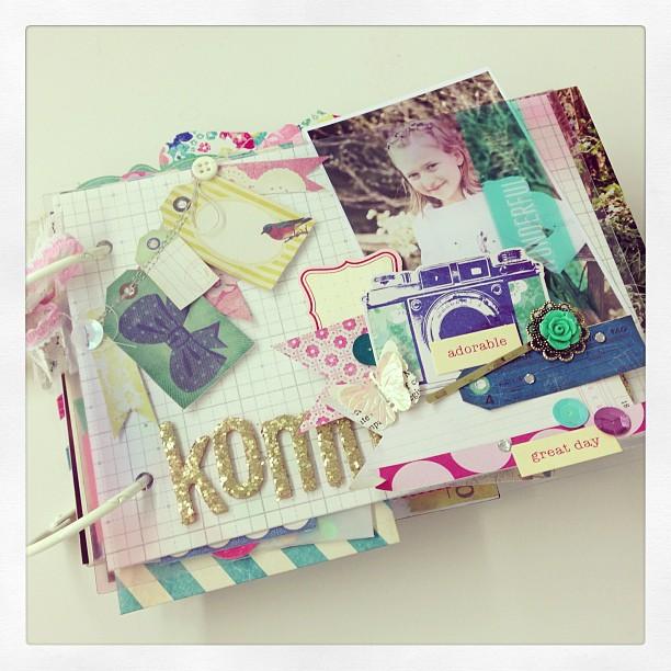 Minialbum Workshop #scrapbookwerkstatt #maggieholmes #minialbum