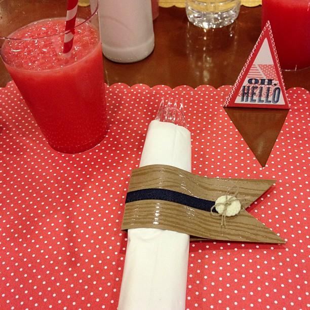Unsere Tischdeko beim Mittagessen #prämienreise