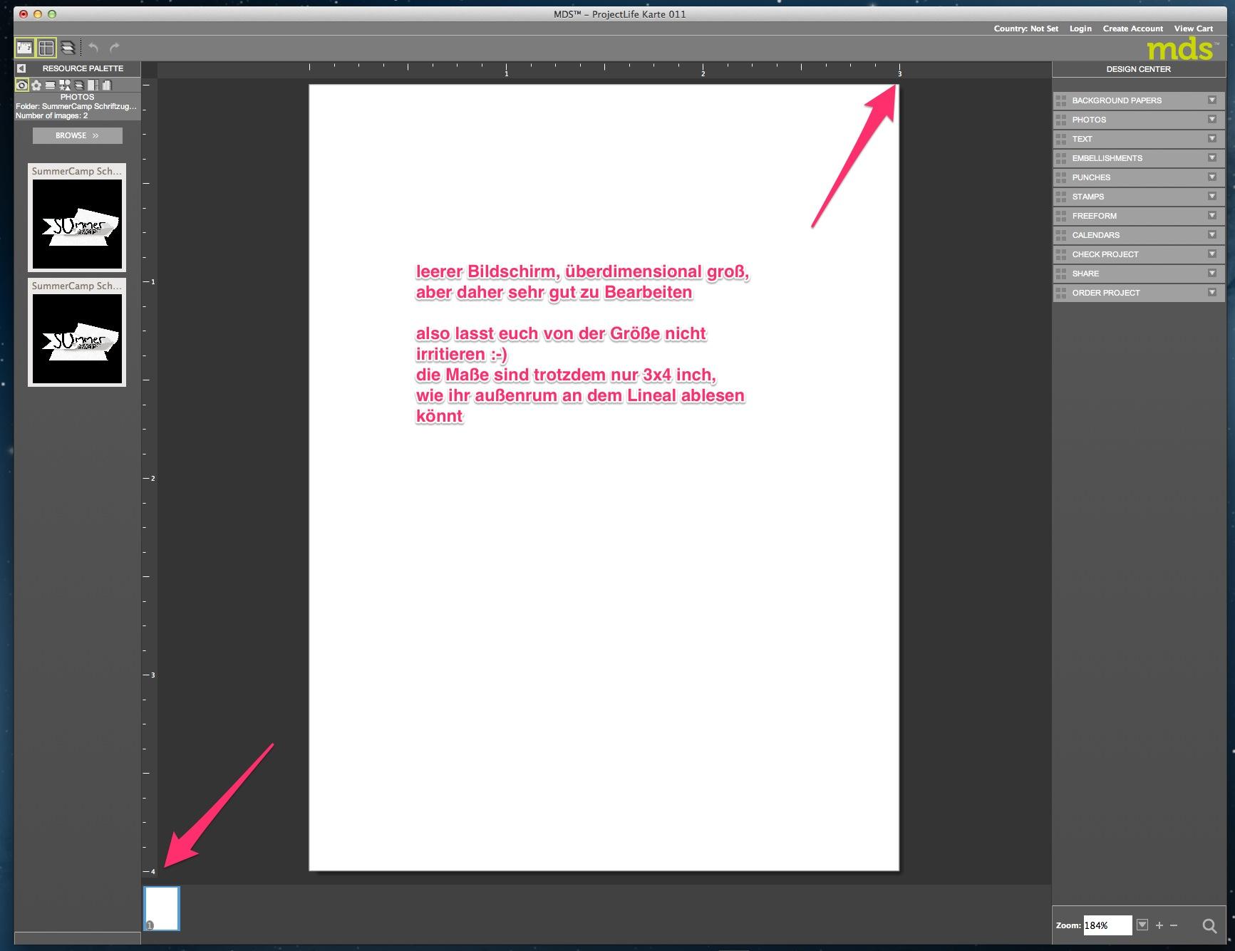 My Digital Studio Karte mit geprägtem Hintergrund Bild3