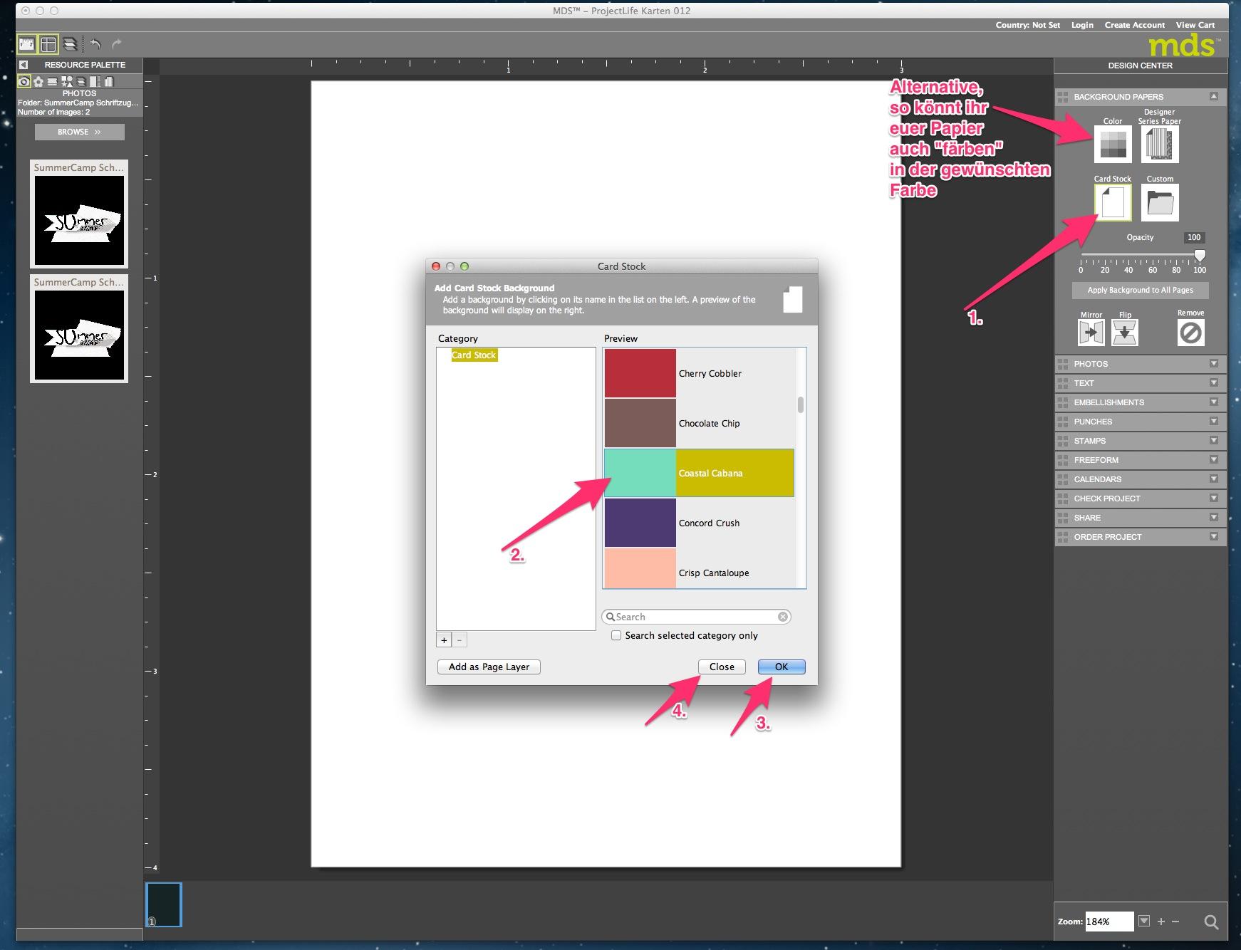 My Digital Studio Karte mit geprägtem Hintergrund Bild4