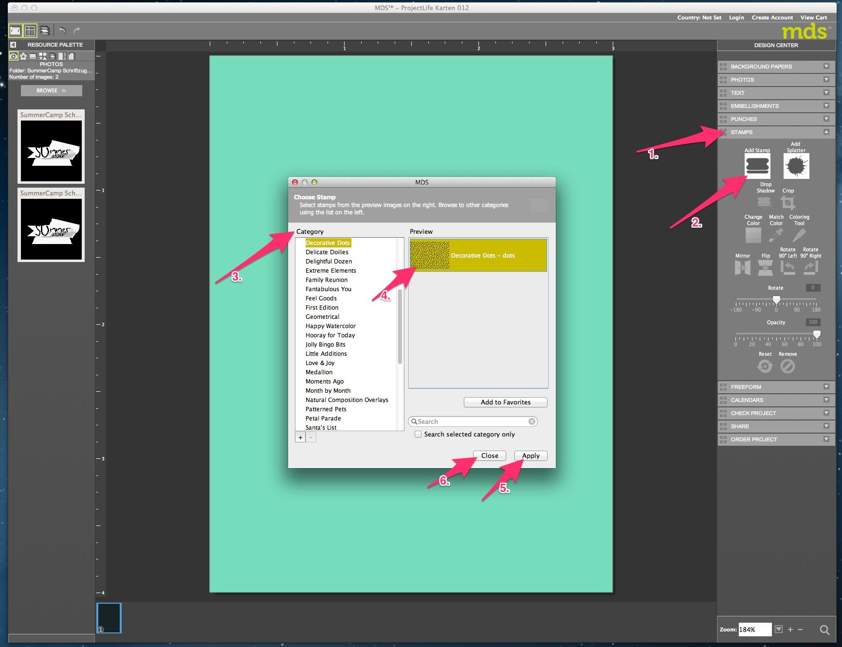 My Digital Studio Karte mit geprägtem Hintergrund Bild5