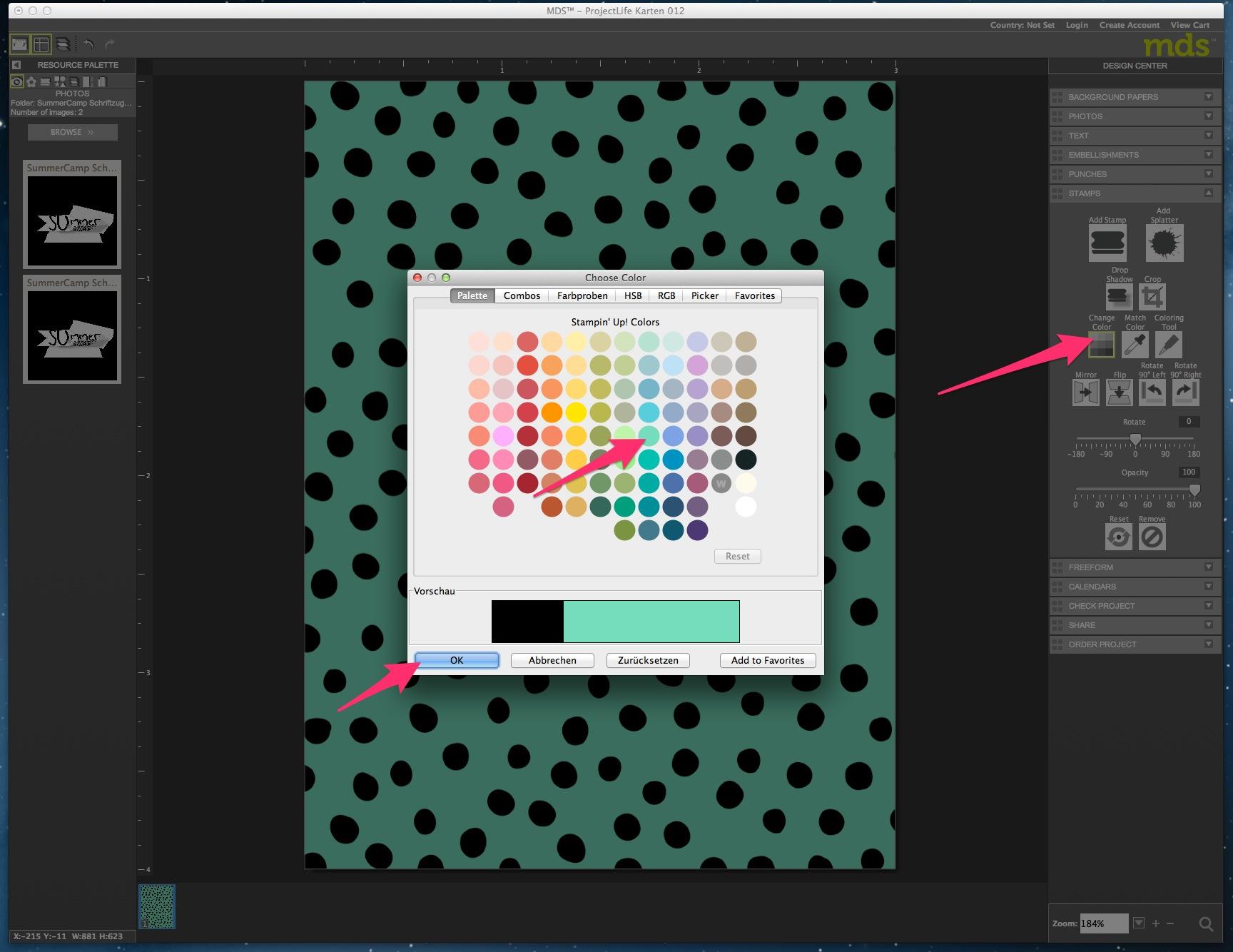 My Digital Studio Karte mit geprägtem Hintergrund Bild6