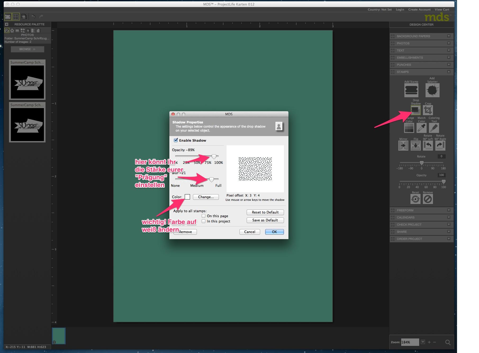 My Digital Studio Karte mit geprägtem Hintergrund Bild7