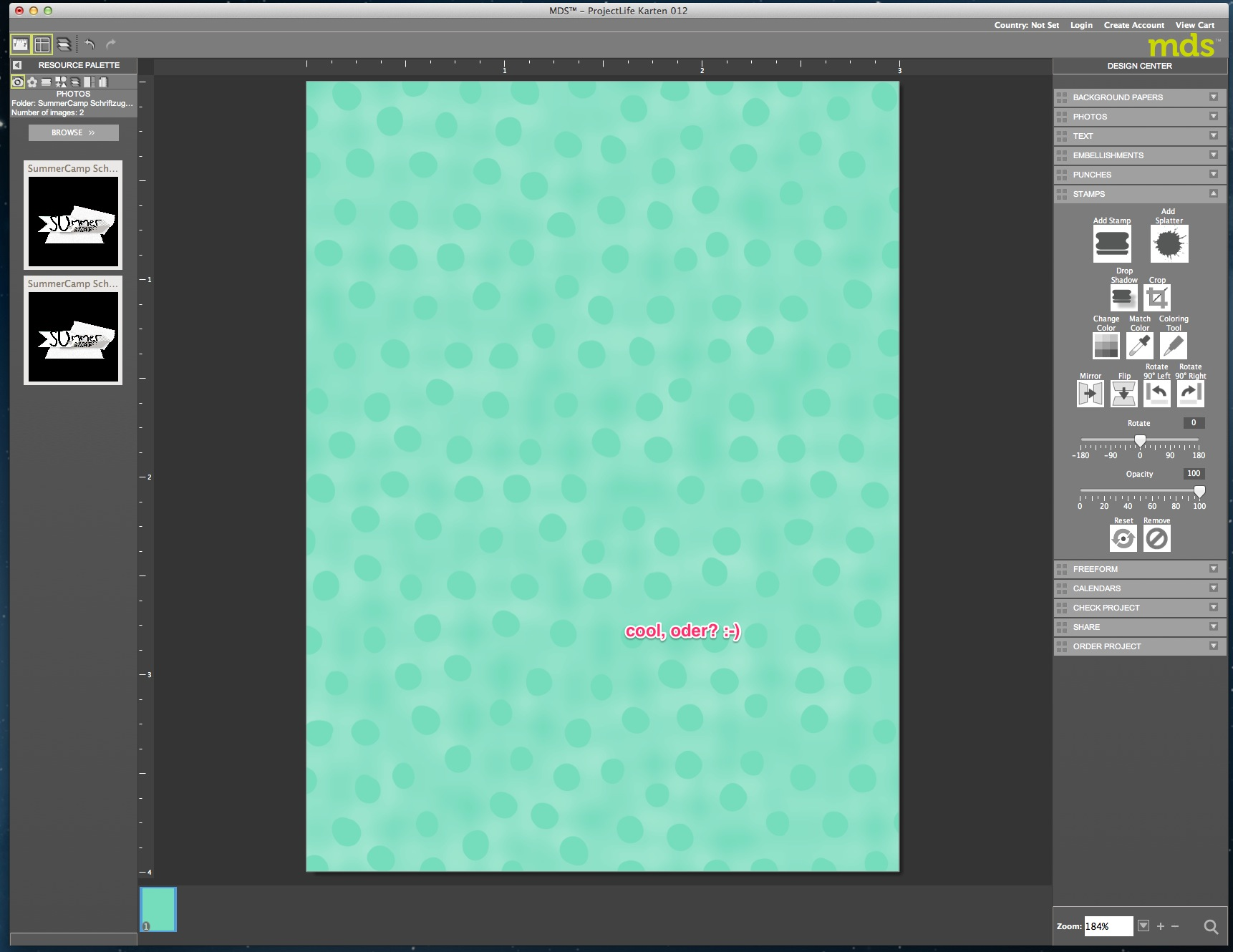 My Digital Studio Karte mit geprägtem Hintergrund Bild8