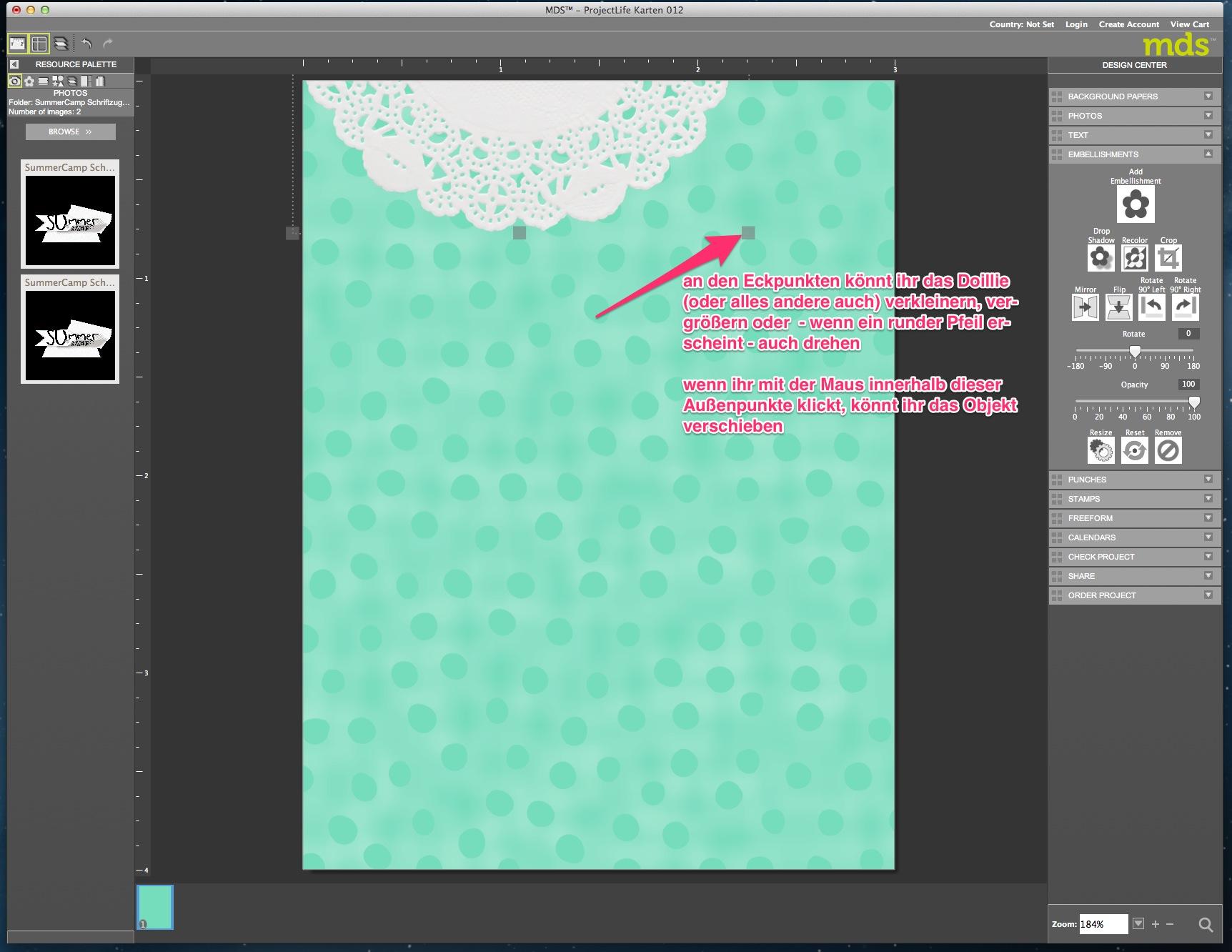 My Digital Studio Karte mit geprägtem Hintergrund Bild10
