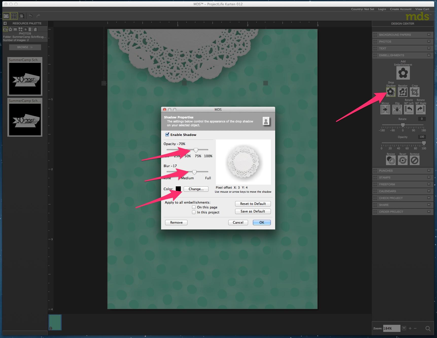 My Digital Studio Karte mit geprägtem Hintergrund Bild11