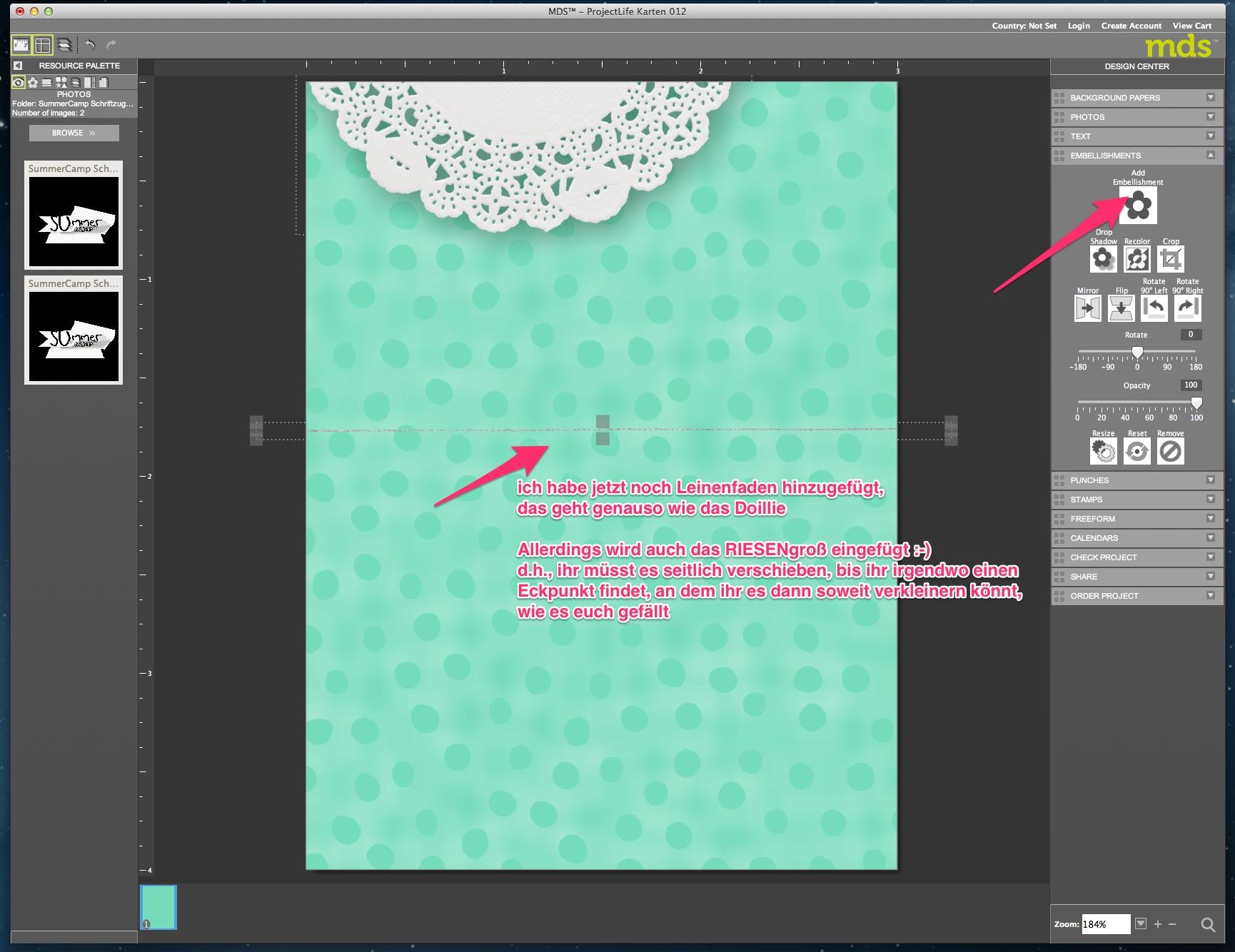 My Digital Studio Karte mit geprägtem Hintergrund Bild12