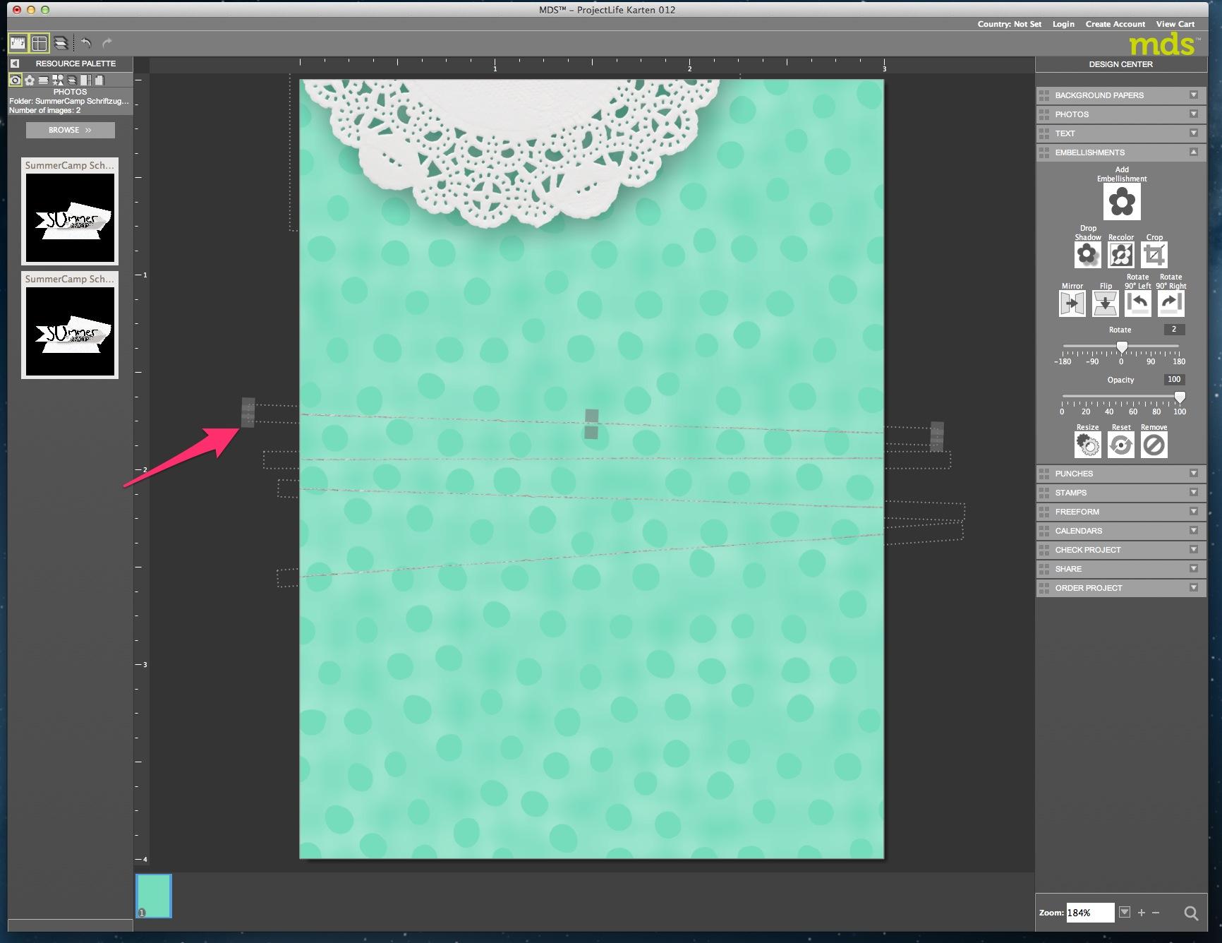 My Digital Studio Karte mit geprägtem Hintergrund Bild13