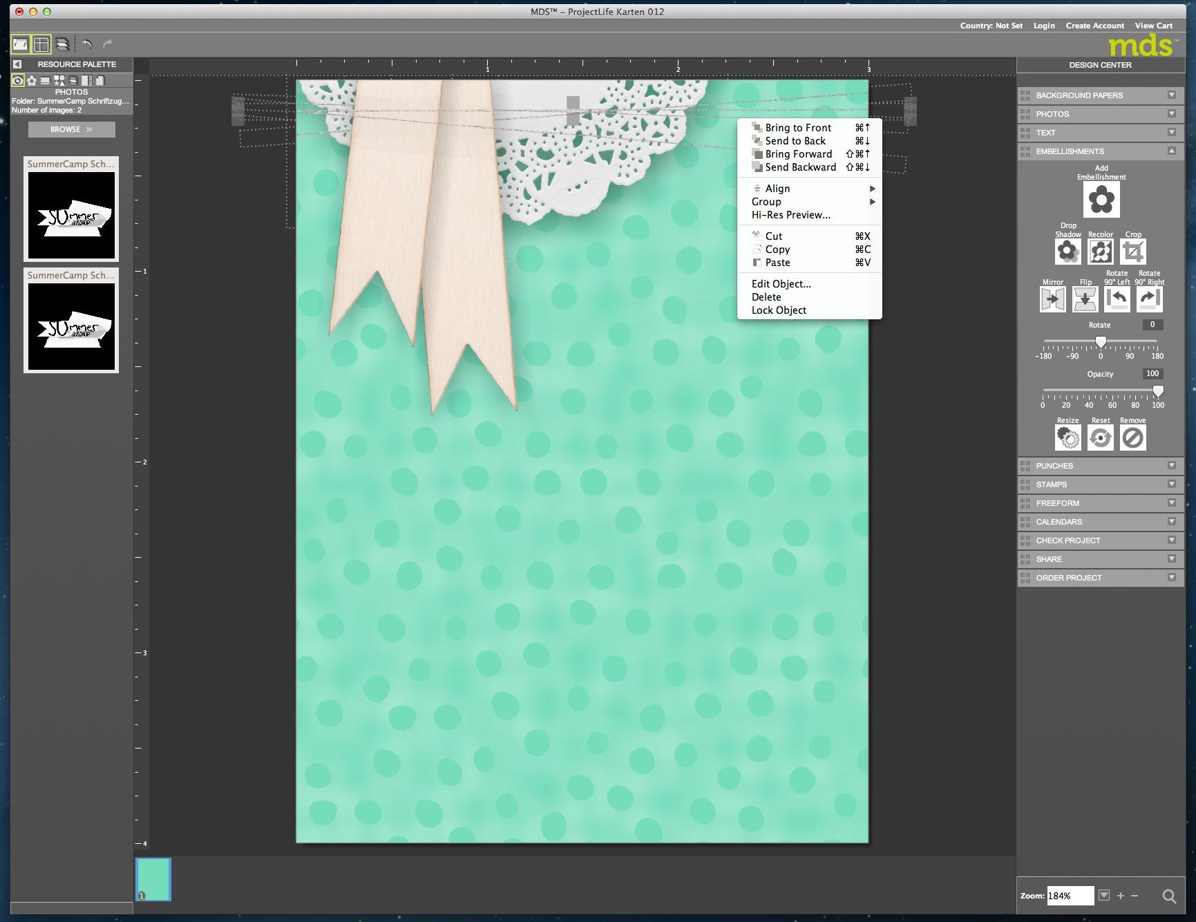 My Digital Studio Karte mit geprägtem Hintergrund Bild15