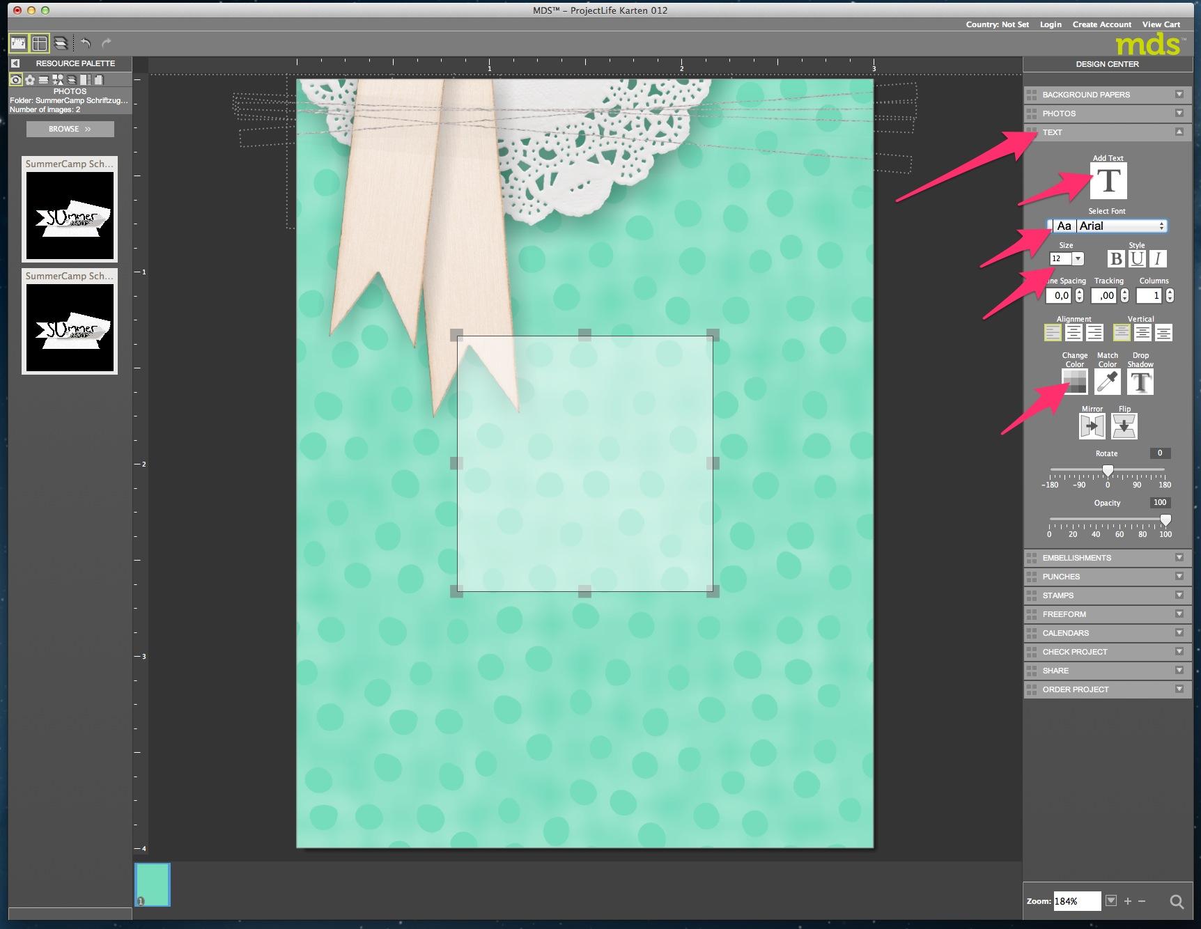 My Digital Studio Karte mit geprägtem Hintergrund Bild16