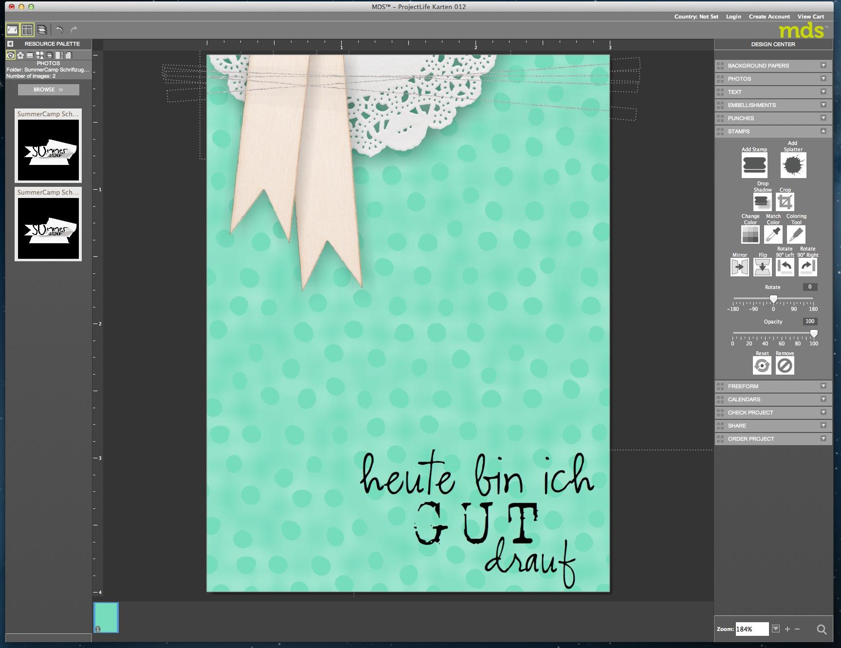 My Digital Studio Karte mit geprägtem Hintergrund Bild17