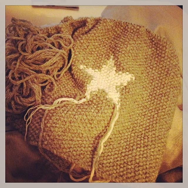 Kleiner Zwischenstand neue Decke ️ #stricken #dauertwohlnoch