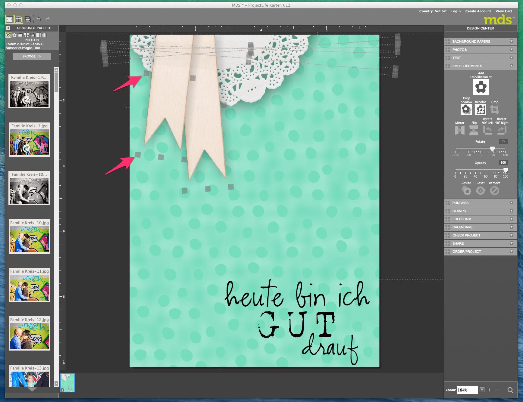 My Digital Studio Karte drucken Bild1