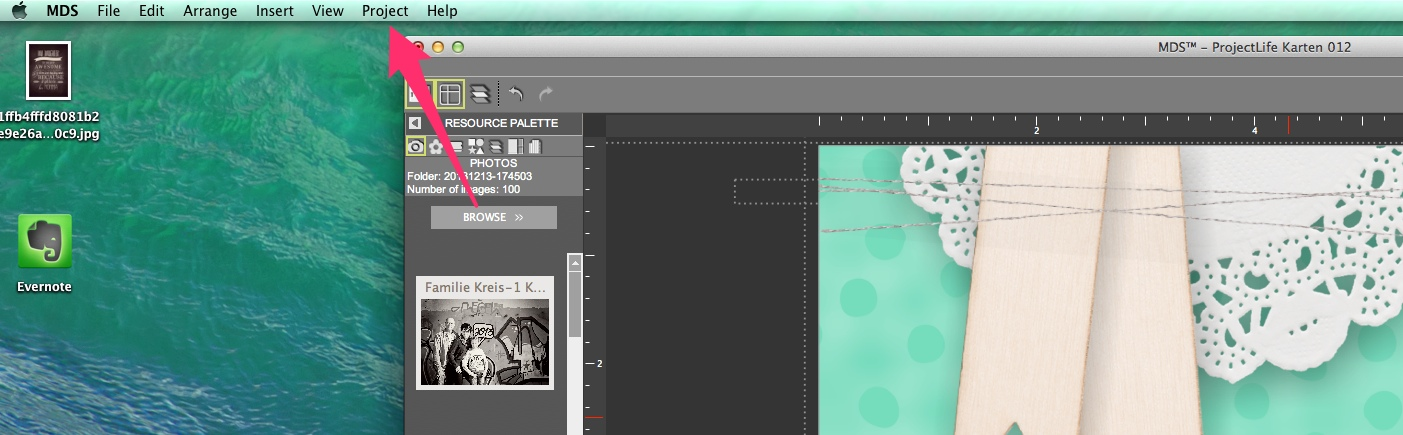 My Digital Studio Karte ausdrucken Bild2