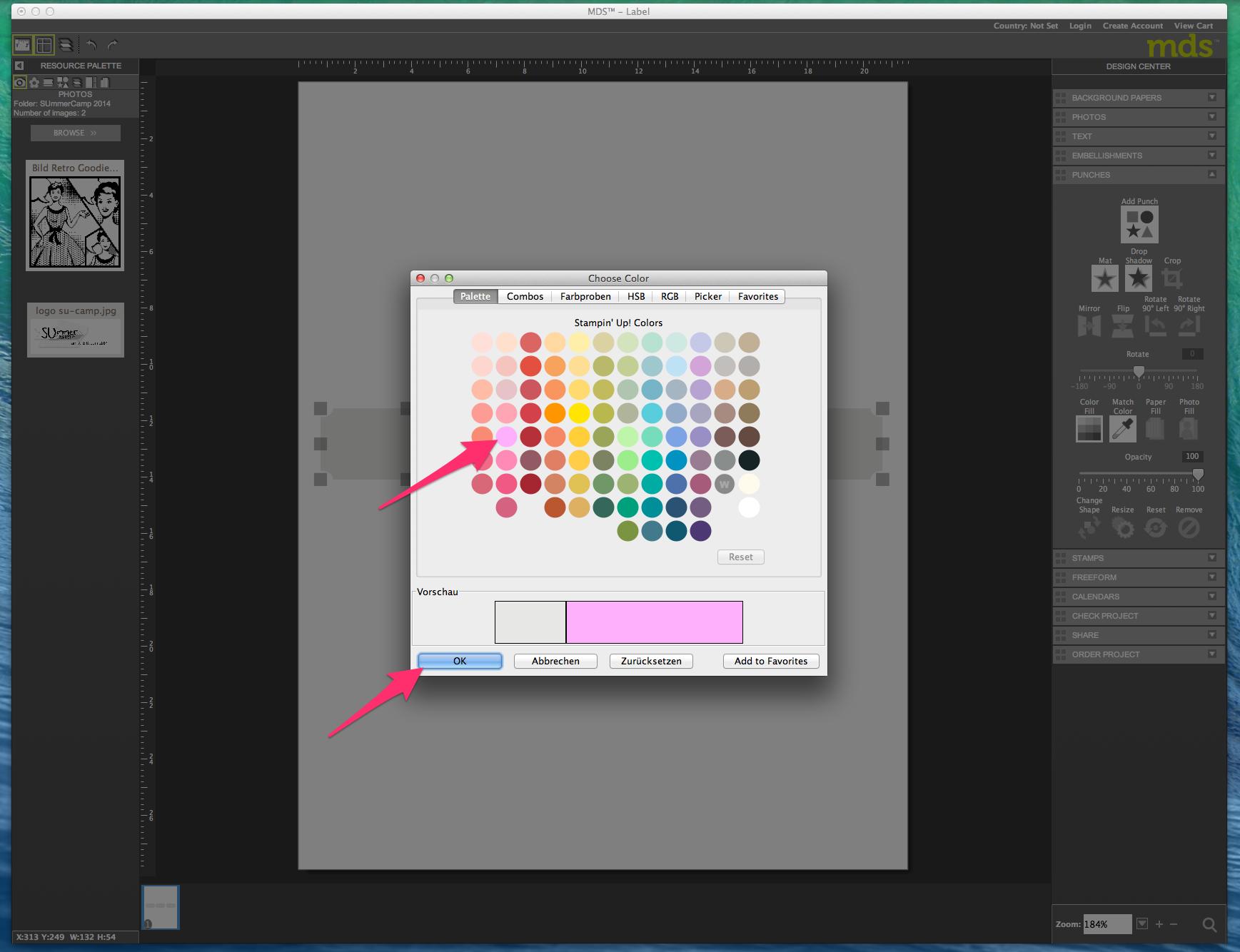 My digital Studio (MDS) Label erstellen und ausdrucken Detail11