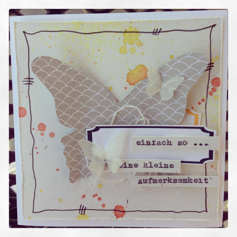 """Karte mit Stampin´ Up! Designerpapier """"Süßes Sorbet"""" SAB2014"""