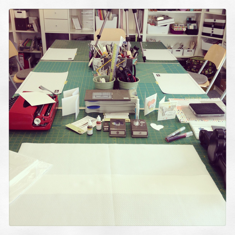 """Workshop Karte mit Stampin´ Up! Designerpapier """"Süßes Sorbet"""" SAB2014"""