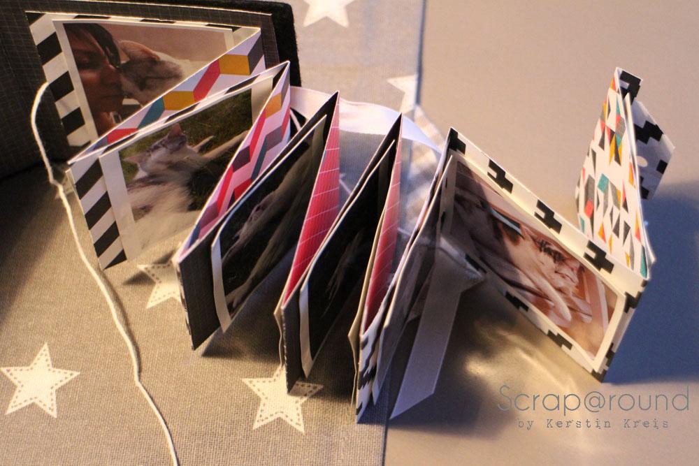 Joschi Leporello MiniAlbum mit Stampin´ Up! DP Kaleidoskop Frühjahr2014 Detail1