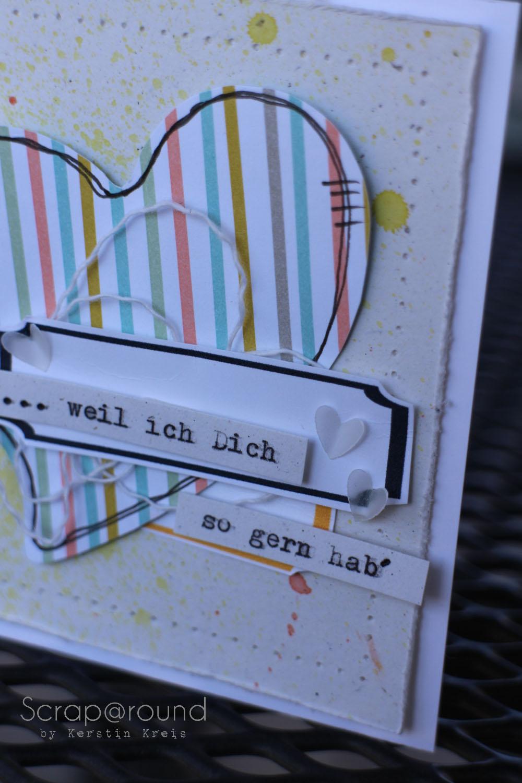 Karte mit Designerpapier Süße Sorbets SAB2014 Detail1