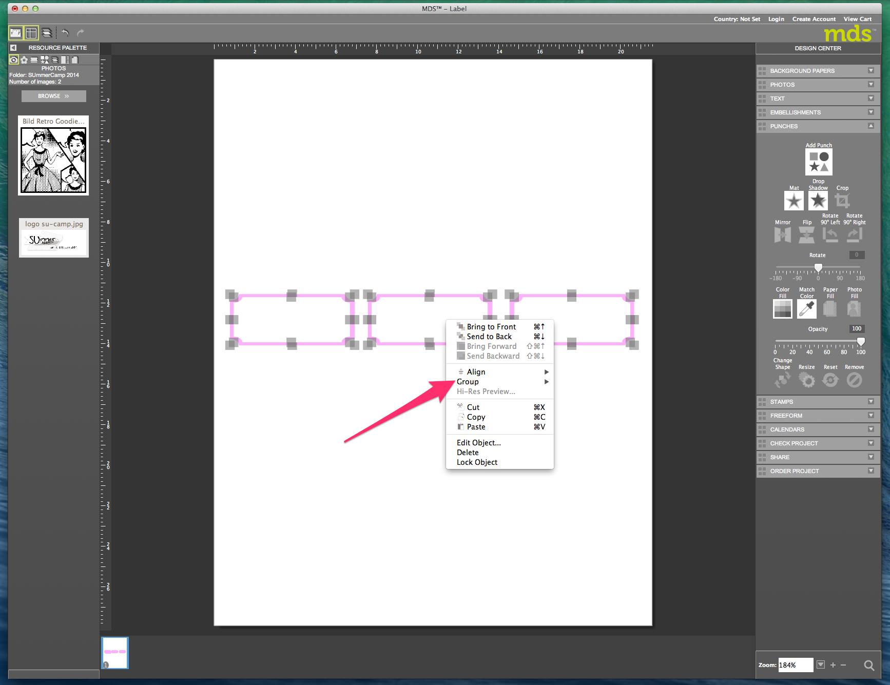 My digital Studio (MDS) Label erstellen und ausdrucken Detail17