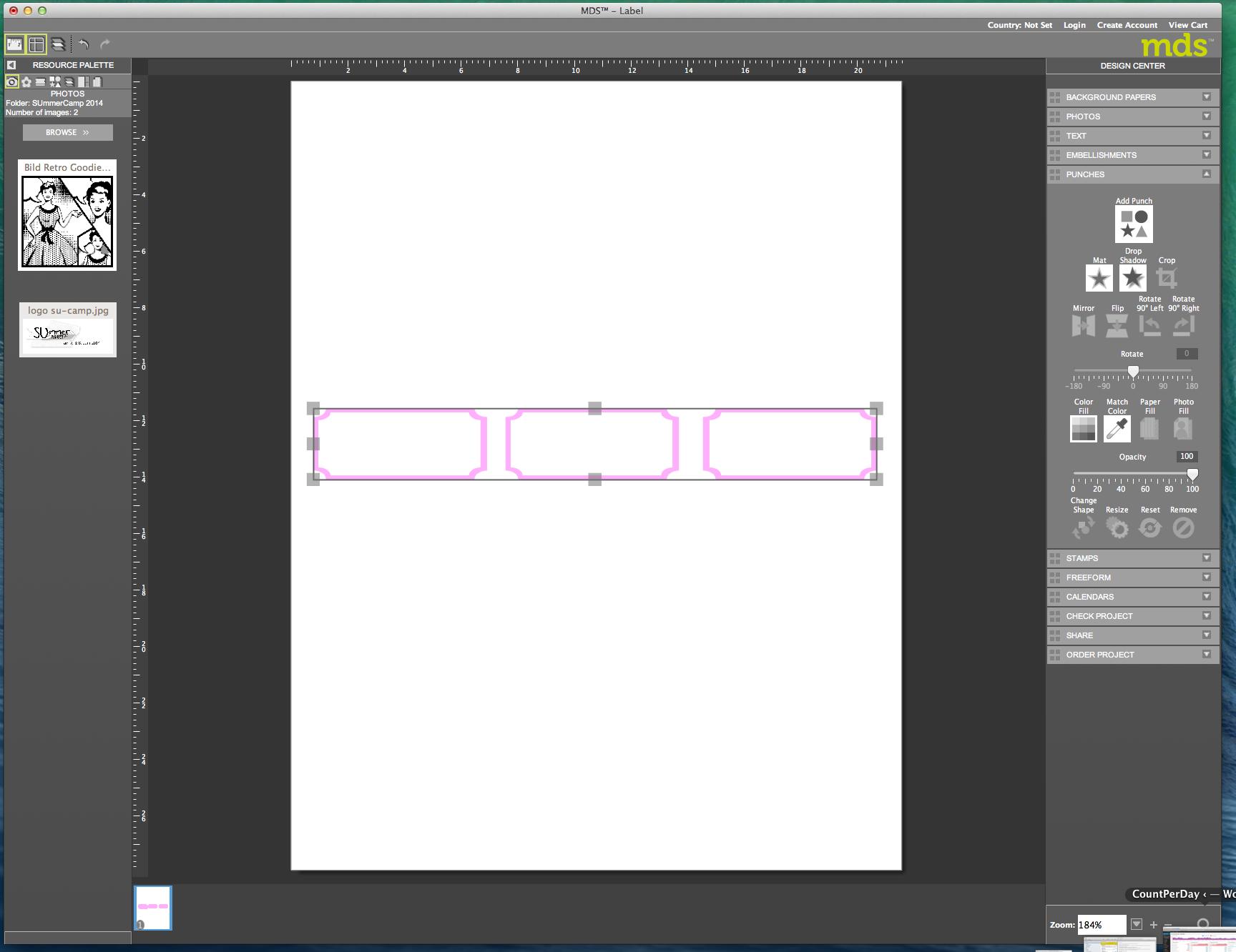 My digital Studio (MDS) Label erstellen und ausdrucken Detail18