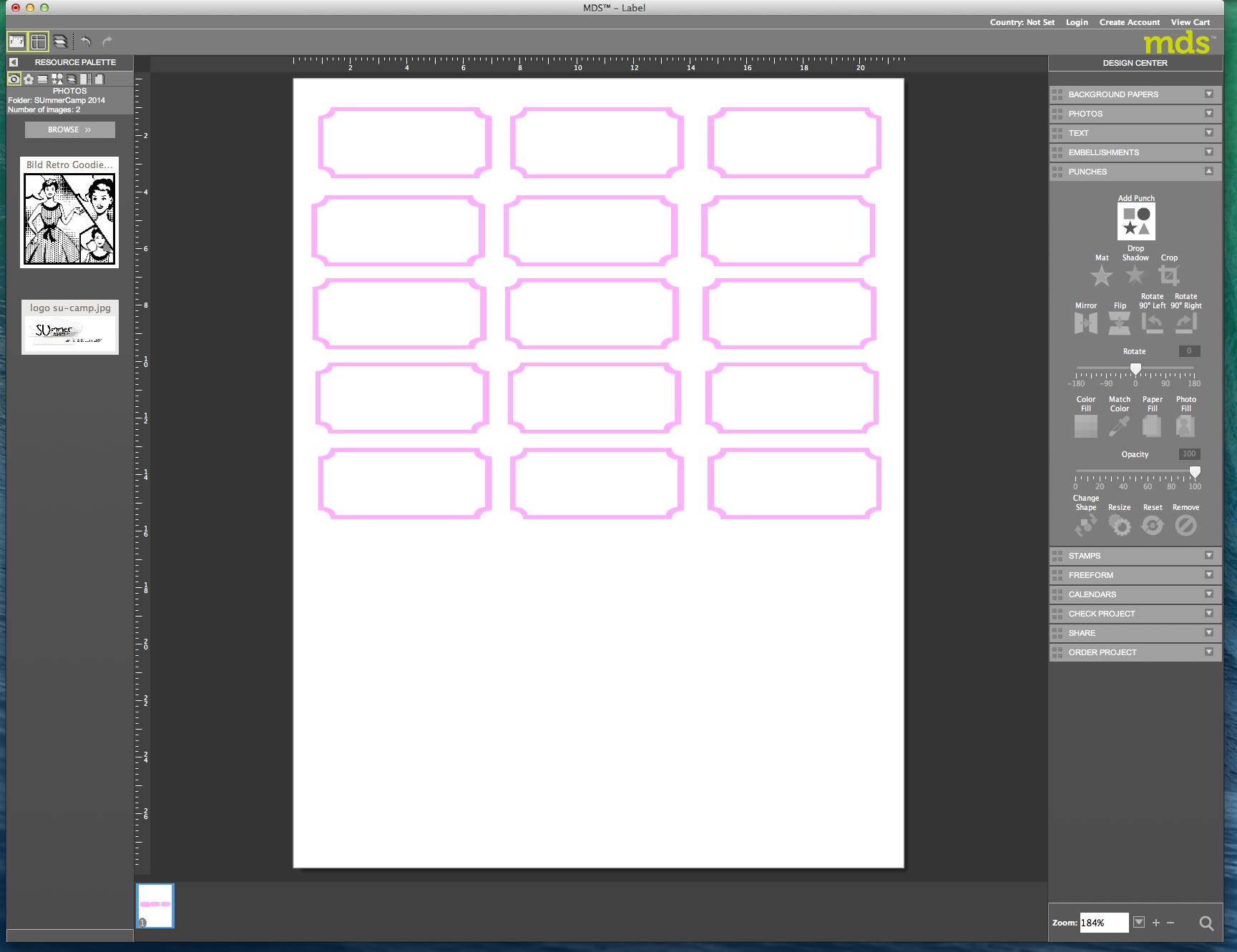 My digital Studio (MDS) Label erstellen und ausdrucken Detail21