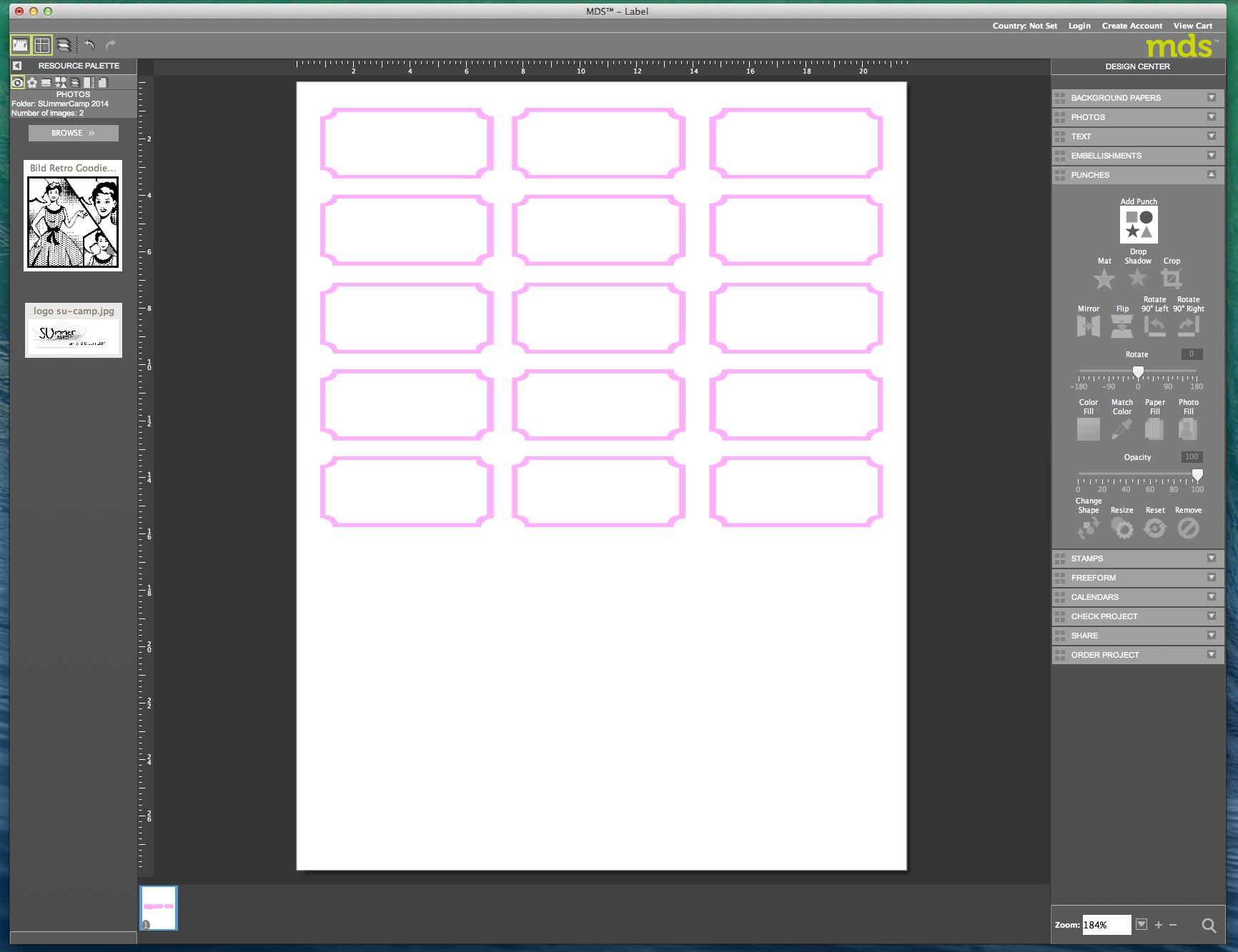 My digital Studio (MDS) Label erstellen und ausdrucken Detail23