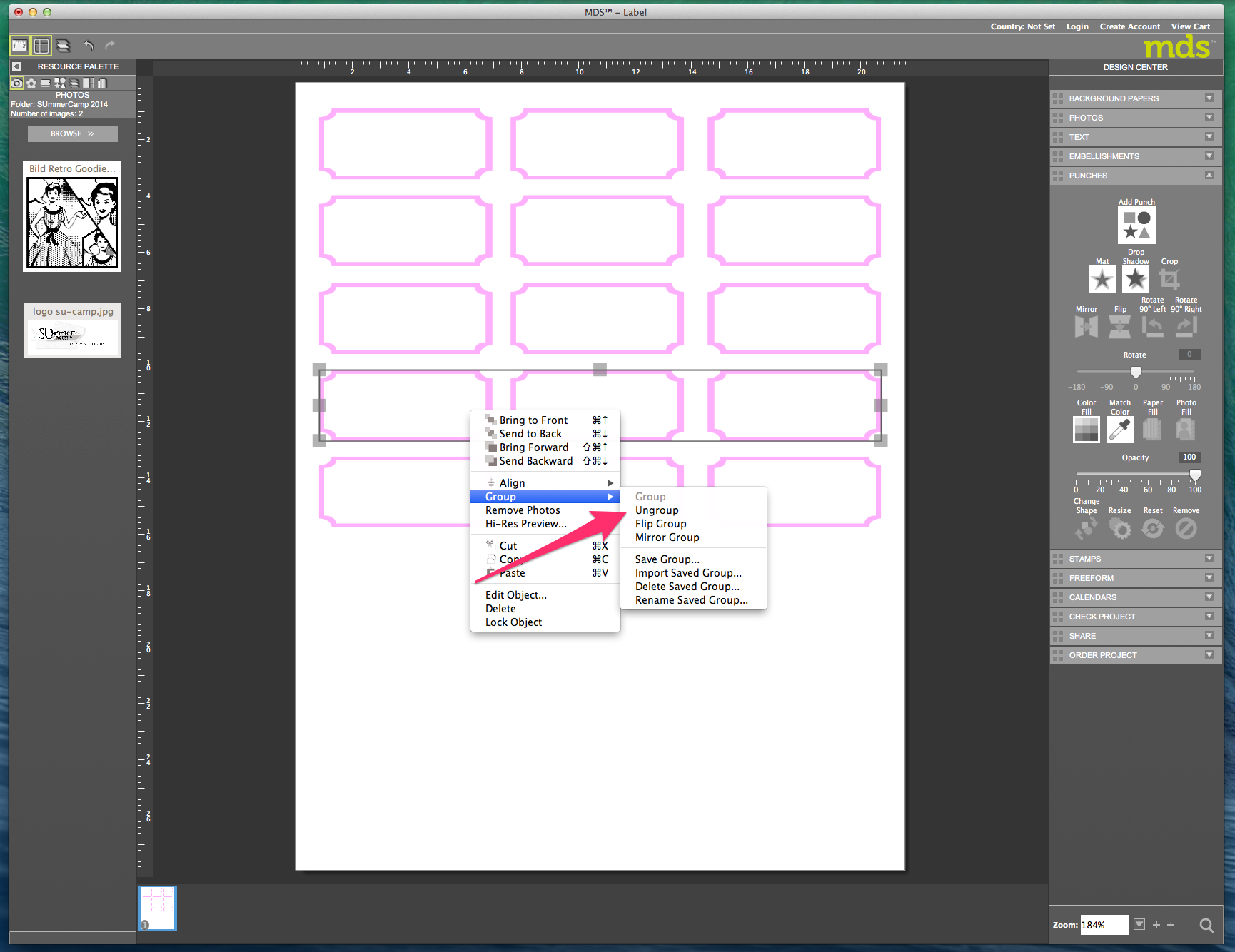 My digital Studio (MDS) Label erstellen und ausdrucken Detail27