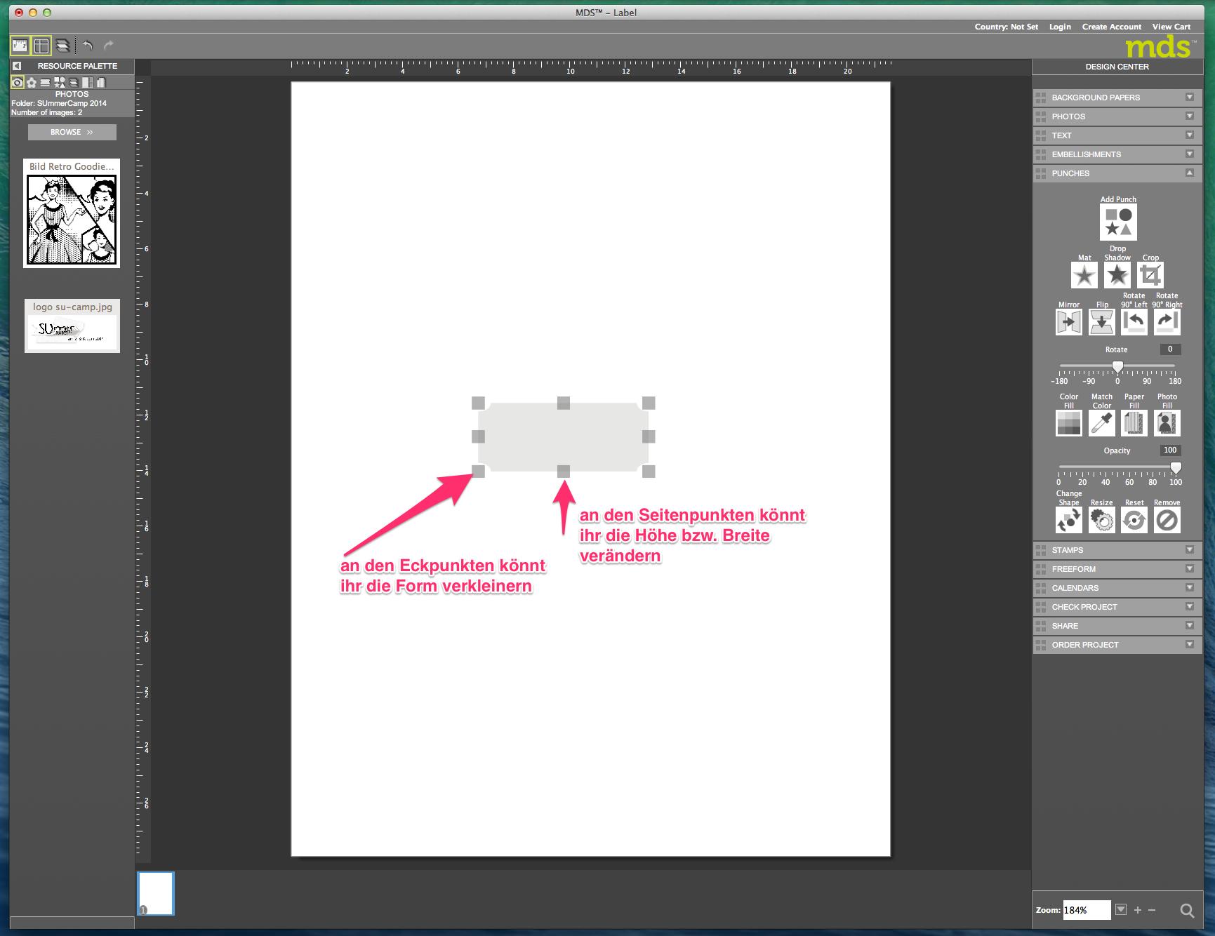 My digital Studio (MDS) Label erstellen und ausdrucken Detail04