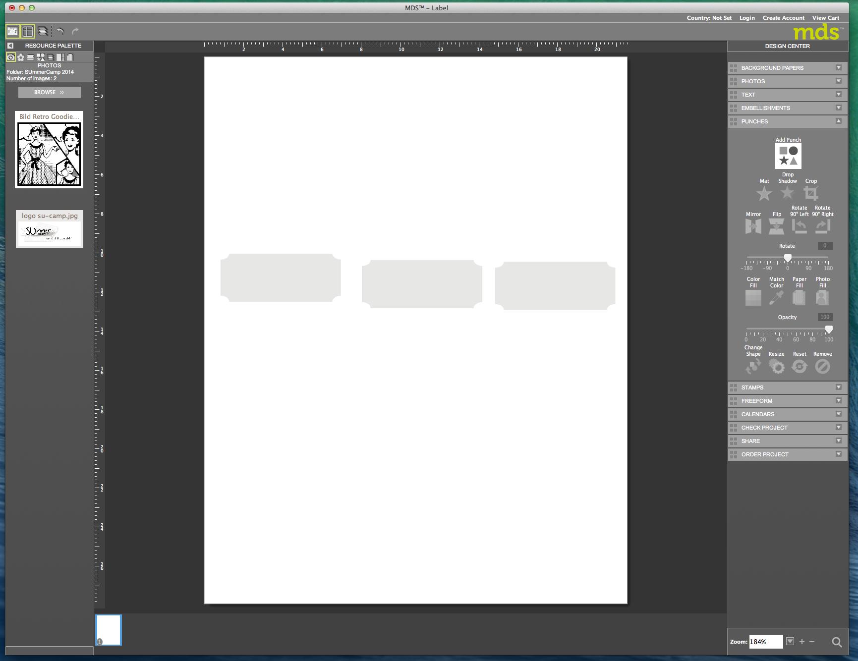 My digital Studio (MDS) Label erstellen und ausdrucken Detail06