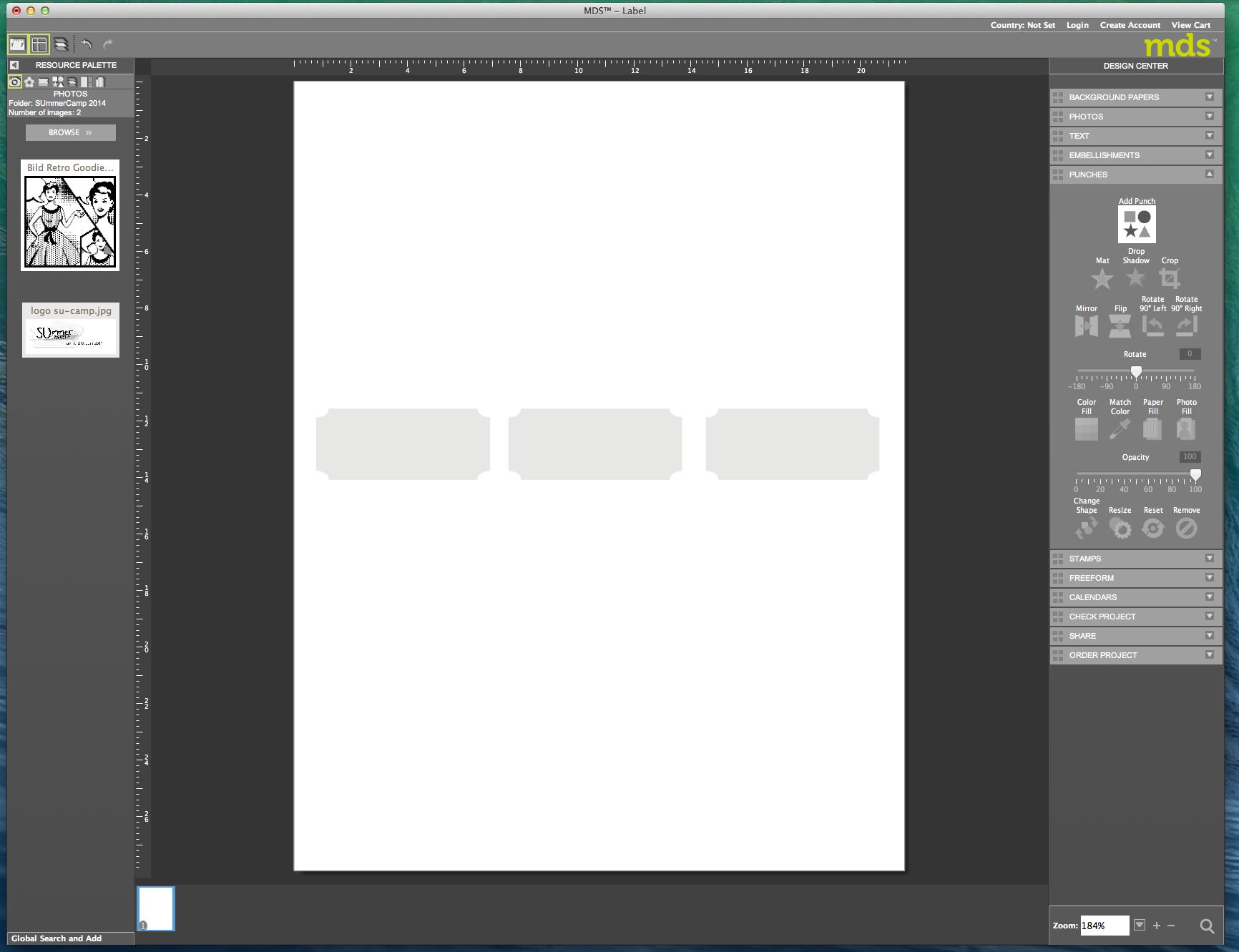 My digital Studio (MDS) Label erstellen und ausdrucken Detail08