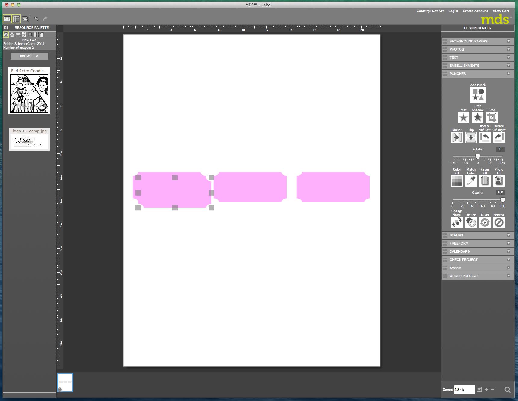 My digital Studio (MDS) Label erstellen und ausdrucken Detail13