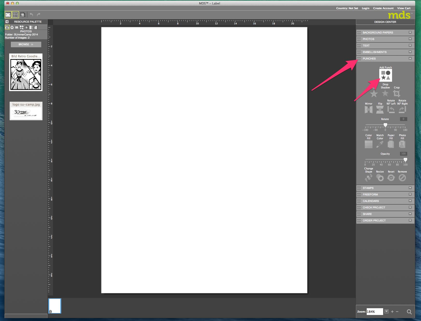 My digital Studio (MDS) Label erstellen und ausdrucken Detail01