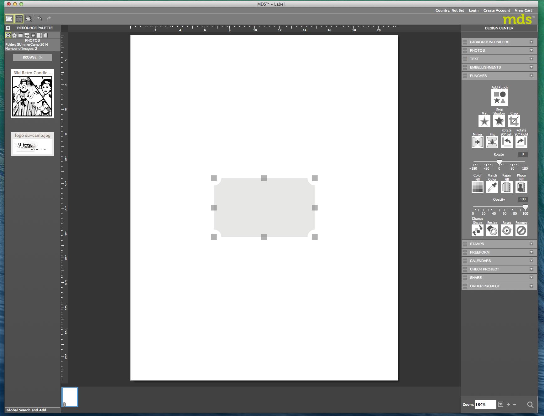 My digital Studio (MDS) Label erstellen und ausdrucken Detail03