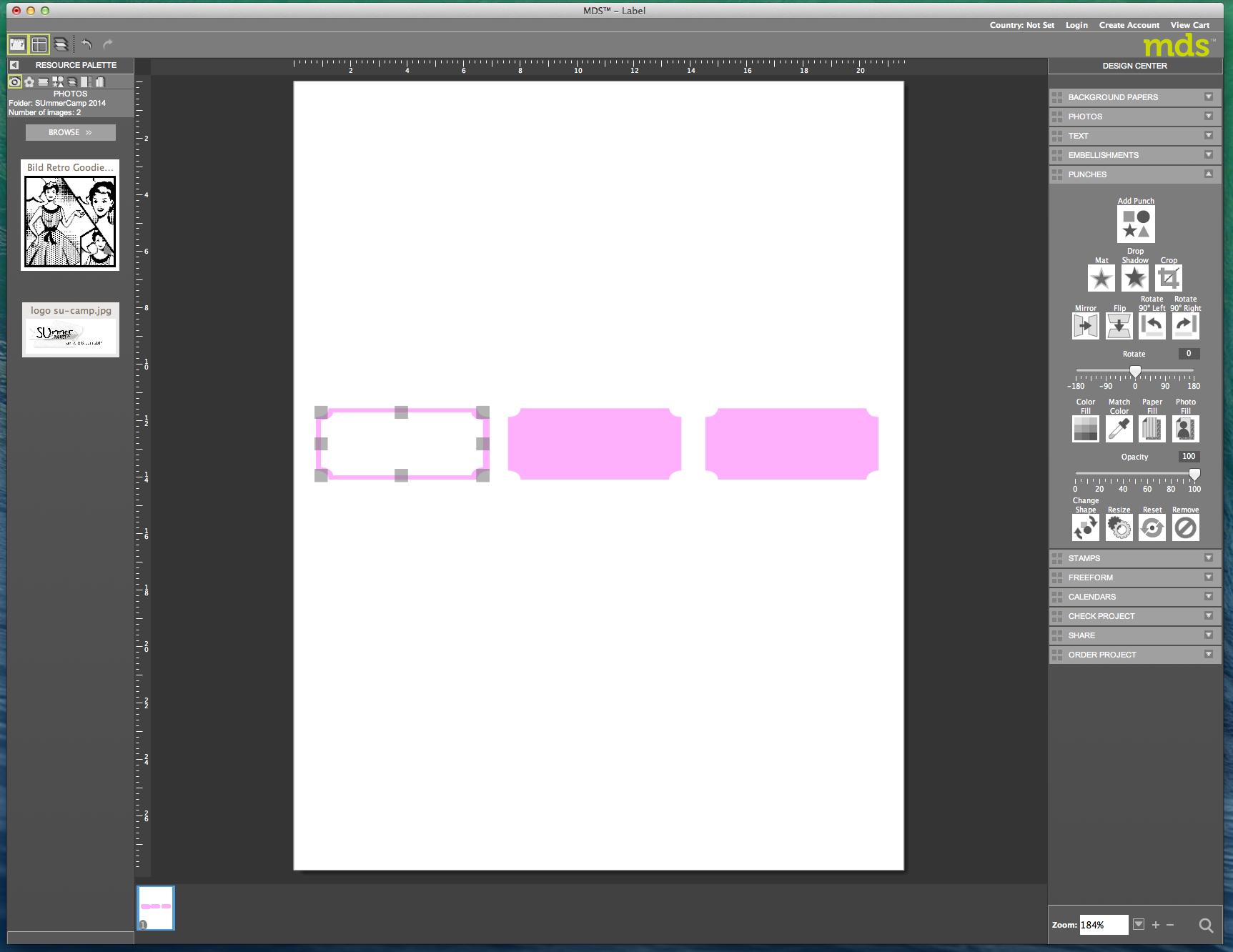 My digital Studio (MDS) Label erstellen und ausdrucken Detail15
