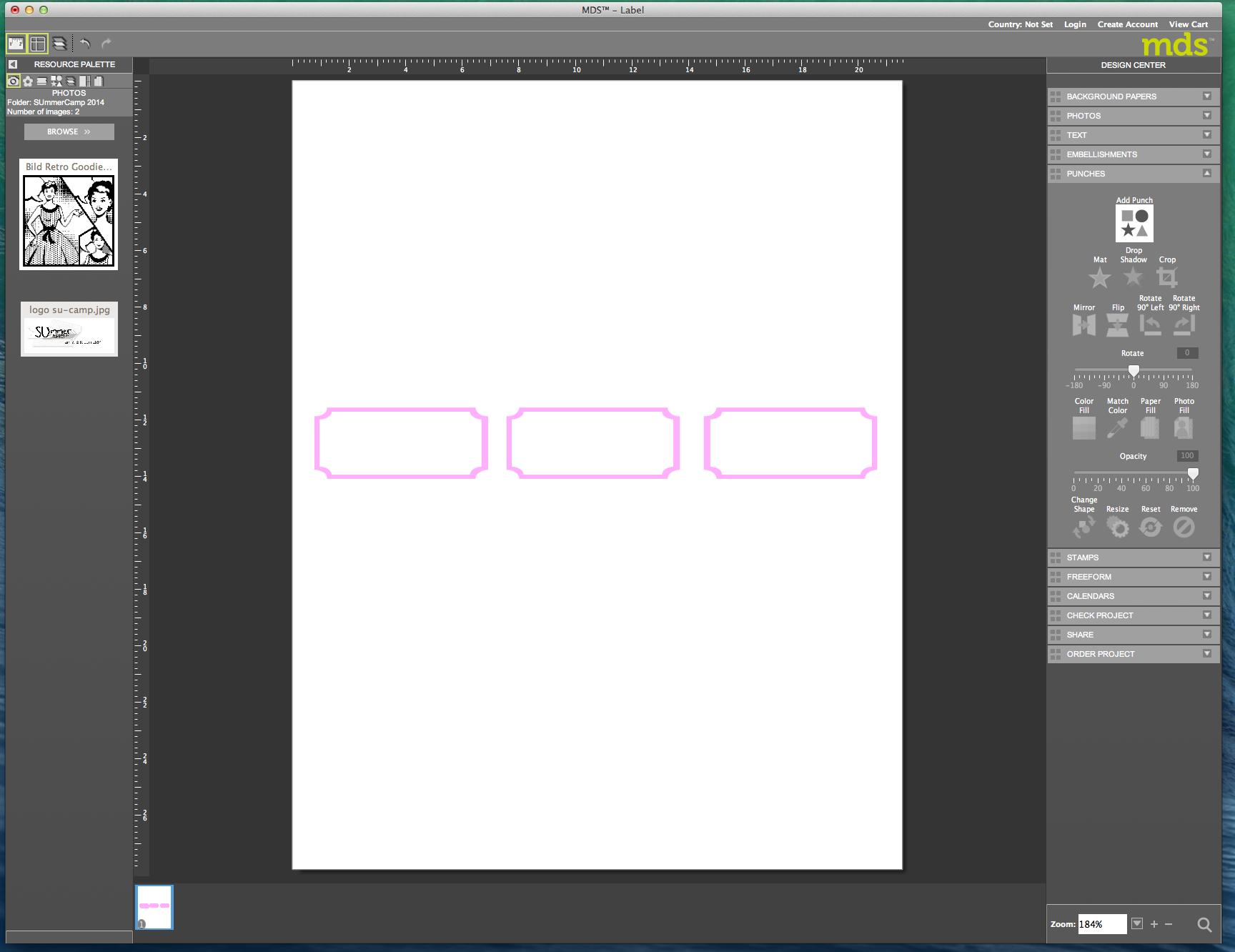 My digital Studio (MDS) Label erstellen und ausdrucken Detail16