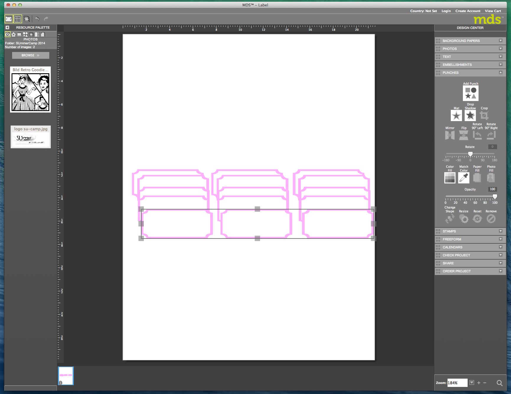 My digital Studio (MDS) Label erstellen und ausdrucken Detail19