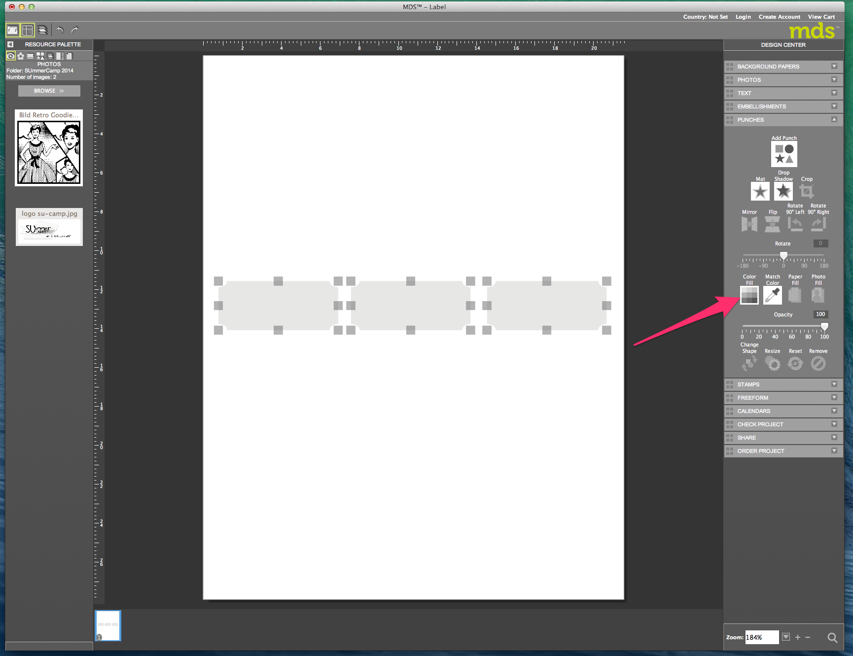 My digital Studio (MDS) Label erstellen und ausdrucken Detail09