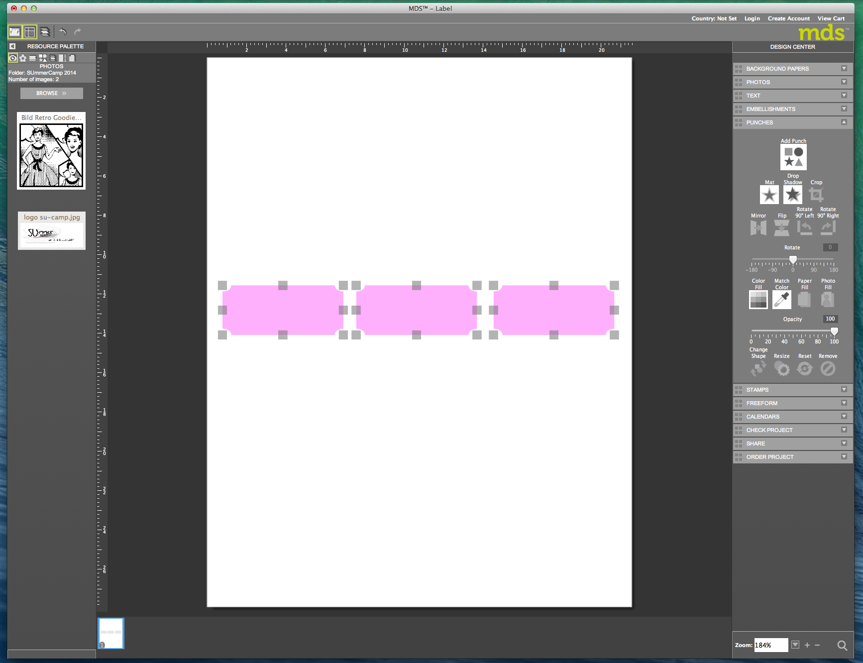 My digital Studio (MDS) Label erstellen und ausdrucken Detail12