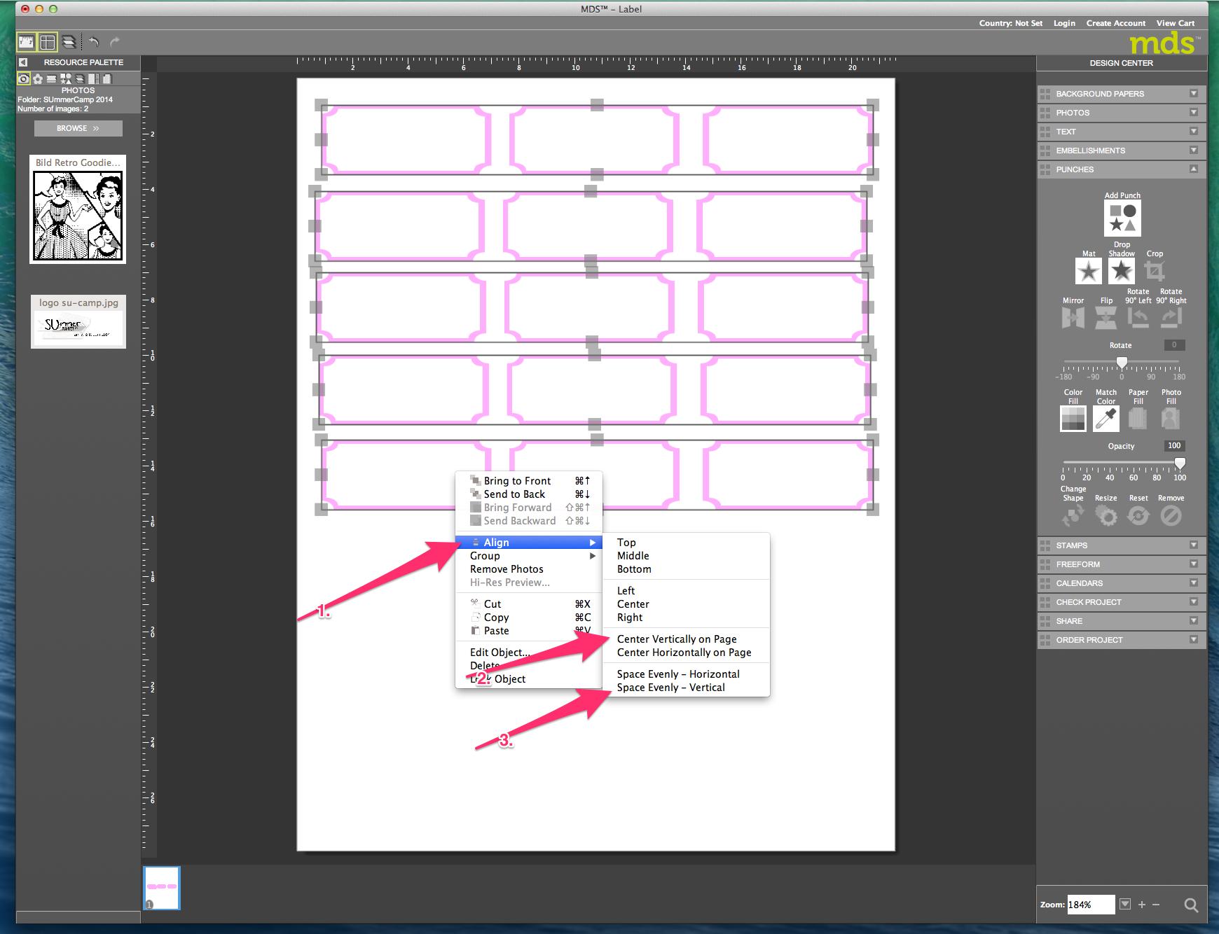 My digital Studio (MDS) Label erstellen und ausdrucken Detail22