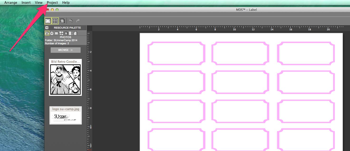 My digital Studio (MDS) Label erstellen und ausdrucken Detail24