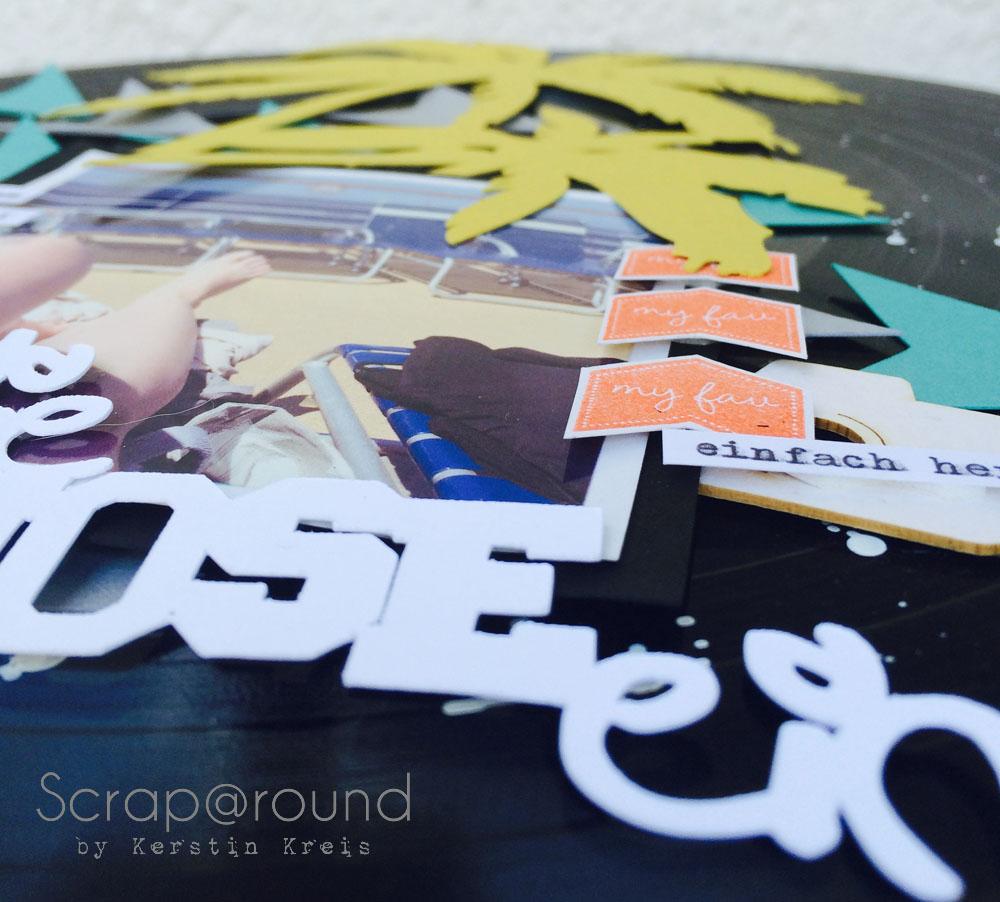 Projekte SUmmerCamp2014 Layout Schallplatte Detailbild