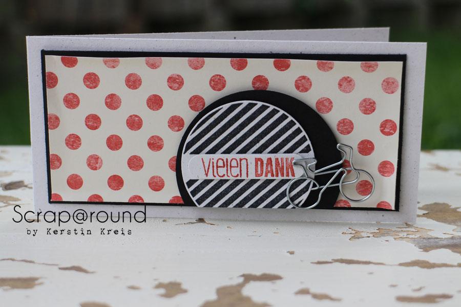 """Karte """"Vielen Dank"""" Stampin´ Up! Stempelset #hallo und DesignerPapier Flohmarkt"""